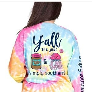 Simply Southern peanut butter jelly tie die